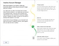 Завещание от Google - Inactive Account Manager